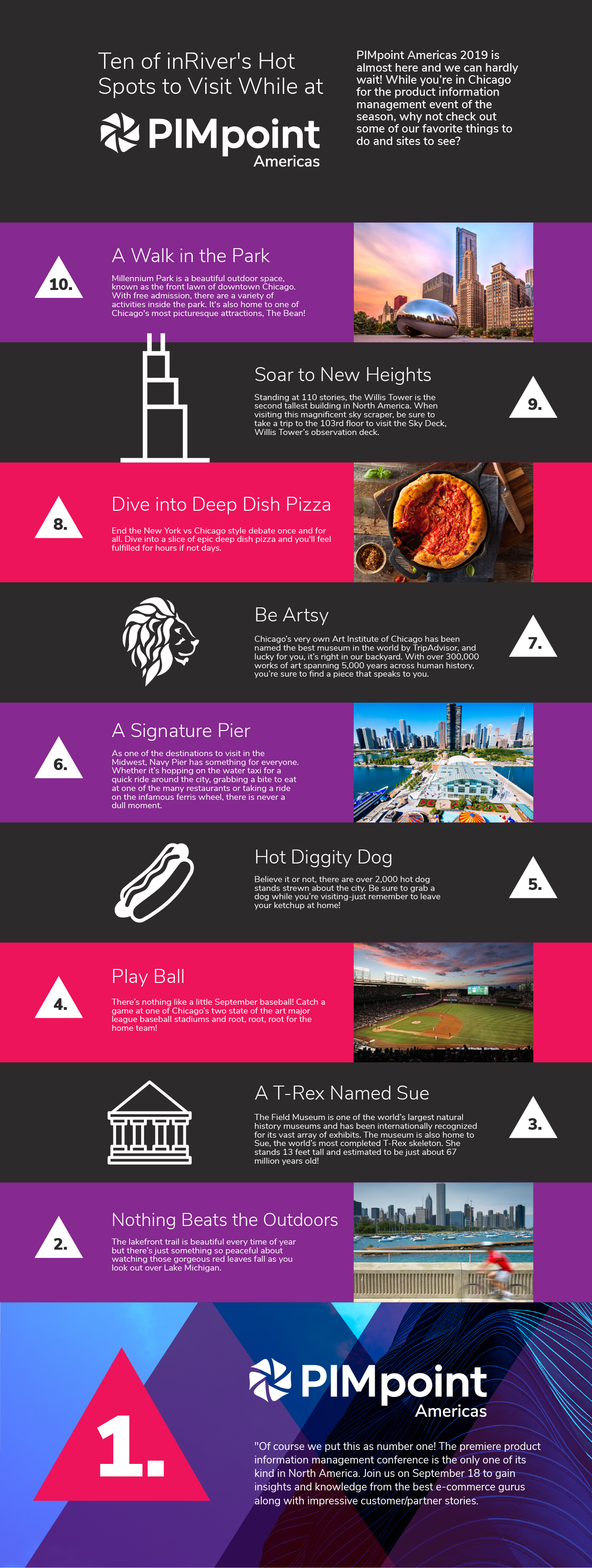 10 Things to Do in Chicago infographic