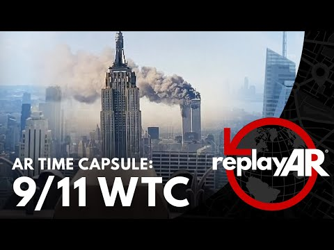 Moments from 9/11 appear frozen in time as they're projected on the present-day locations where they actually happened using augmented reality as a tool for historical preservation.