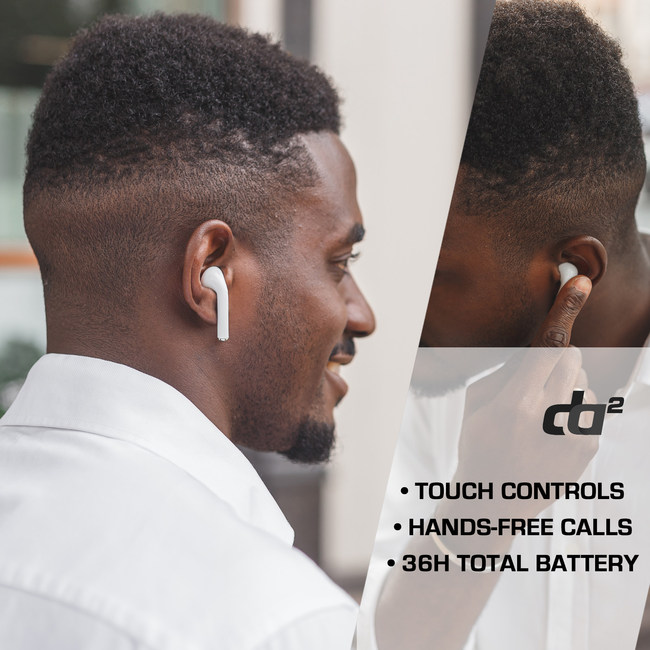 It offers superior wireless freedom while allowing for voice, Skype and Zoom clarity. At the same time, the style and performance of the unit is superior to most of the popular brands on the market, at a fraction of the price.