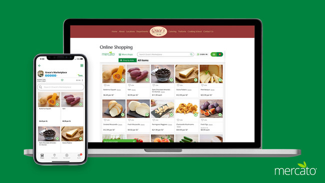 Mercato's digital platform is designed for independently owned grocery and specialty food stores.