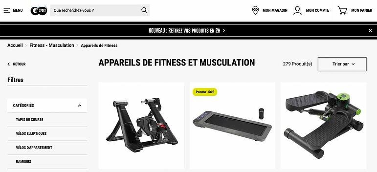 Marketplace sport products Go sport