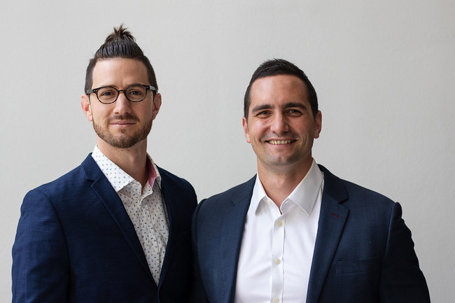 The two met digitally, and grew the business together - meeting for the first time in person three years in