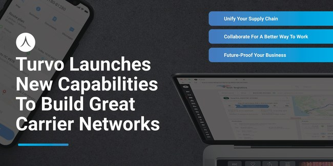 Turvo's new carrier collaboration tools, part of the Turvo Collaboration Cloud's suite of applications, build great carrier networks by delivering outstanding customer experiences.