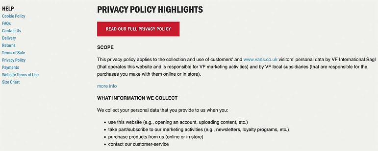 Legal policy in ecommerce