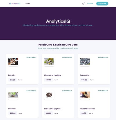 """""""AnalyticsIQ is excited to be a founding customer of Narrative Data Shops. Data users are only as good as the data they are aware of and can access. With Data Shops, we can more easily connect users with a variety of quality data they may not have otherwise found, giving them the ability to identify the right data for their analytic mission, and to us, that is both exciting and important."""" Dave Kelly, CEO, AnalyticsIQ"""